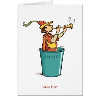 Cartão Waste do gaiteiro