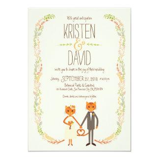 Cartão Wedding (de creme) lunático dos gatos da floresta