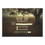 cartão wedding romântico das lanternas RSVP da Convite