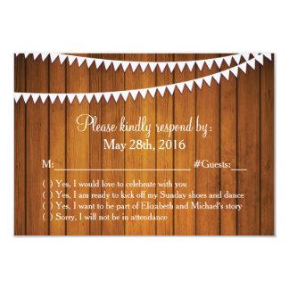 Cartão Wedding rústico da resposta de RSVP