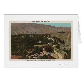 Cartão Wenatchee, o olho de WABird do rancho no vale