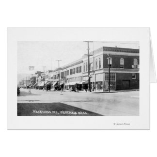 Cartão Wenatchee, WashingtonView da avenida de Wenatchee