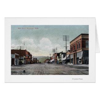 Cartão Wenatchee, WashingtonView da rua principal