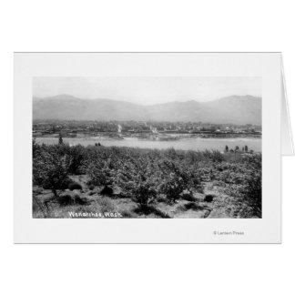 Cartão Wenatchee, WashingtonView do rio e