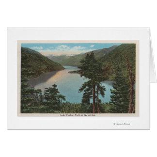 Cartão Wenatchee, WAView do lago Chelan