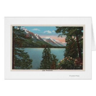 Cartão Wenatchee, WAView do lago Wenatchee