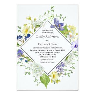 Cartão Wildflowers rústicos de Boho do jardim secreto que