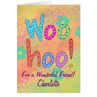 Cartão WooHoo o nome personalizou os amigos