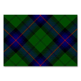 Cartão Xadrez do verde azul do tartan do clã de Armstrong
