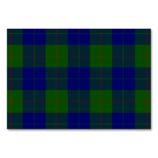 Cartão Xadrez do verde azul do tartan do clã de Barclay