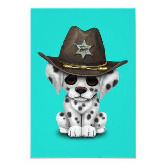 Cartão Xerife Dalmatian bonito do filhote de cachorro