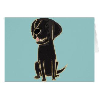 Cartão XX- desenhos animados pretos bonitos de Labrador