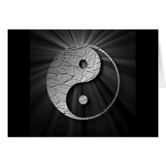 Cartão Yin Yang Starburst