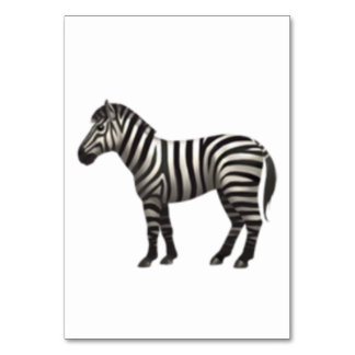 Cartão Zebra - Emoji
