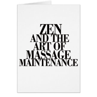 Cartão ZEN & a arte da MASSAGEM