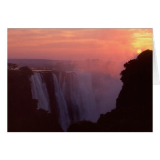 Cartão Zimbabwe, parque nacional de Cataratas Vitória.