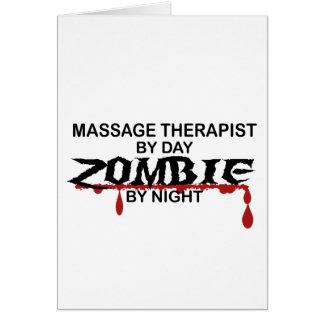 Cartão Zombi do terapeuta da massagem