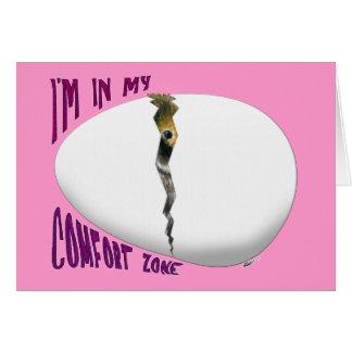 Cartão Zona de conforto do ovo de choque