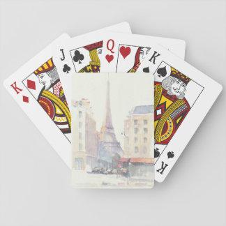 Cartas De Baralho Aguarela da torre Eiffel | Paris