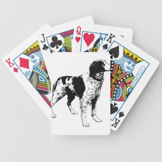 Cartas De Baralho Cães de animais de estimação ostentando do Spaniel