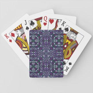 Cartas De Baralho Caleidoscópio roxo em cartões de jogo