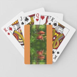 Cartas De Baralho cartão do cogumelo