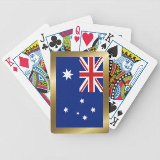 Cartas De Baralho Cartões de jogo da bandeira de Austrália