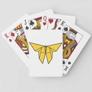Cartas De Baralho Cartões de jogo da borboleta de Origami