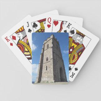 Cartas De Baralho Cartões de jogo da torre do Tor de Glastonbury