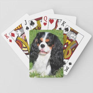Cartas De Baralho Cartões de jogo descuidados do rei Charles Tri Cor