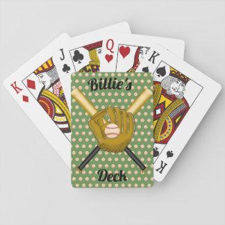 Cartas De Baralho Cartões de jogo do basebol