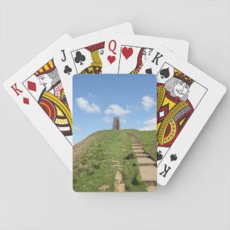 Cartas De Baralho Cartões de jogo do trajeto do Tor de Glastonbury