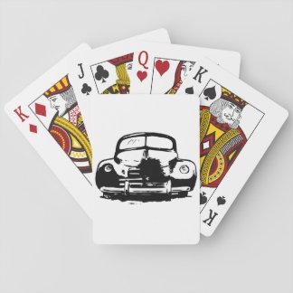Cartas De Baralho Cartões de jogo retros do carro