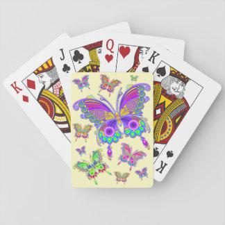 Cartas De Baralho Estilo colorido do tatuagem da borboleta