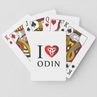 Cartas De Baralho Eu amo Odin