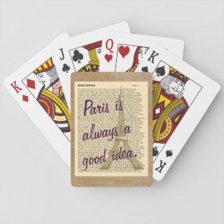 Cartas De Baralho Ideia sempre boa de Paris -- Cartões de jogo