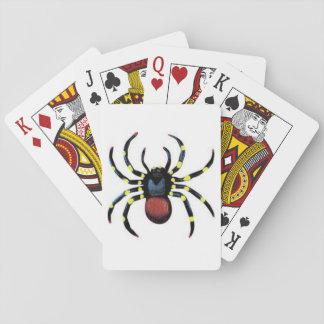 Cartas De Baralho Padrão assustador Indexfaces dos cartões de jogo