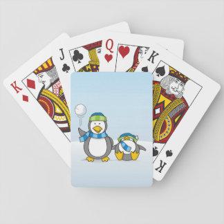 Cartas De Baralho Pinguins Snowballing