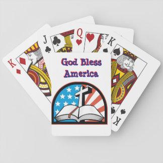Cartas De Baralho Plataforma de América dos deus abençoe de cartões
