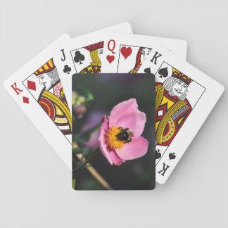 Cartas De Baralho Plataforma de cartões - flor Abelha-Cor-de-rosa