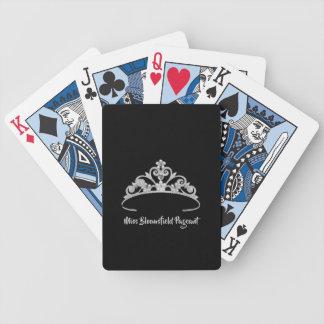 Cartas De Baralhos Cartões de jogo feitos sob encomenda da tiara de