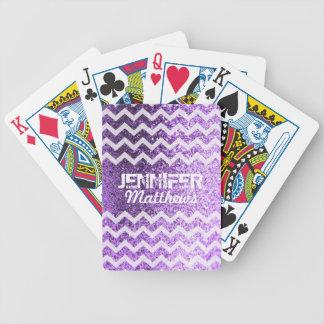 Cartas De Baralhos Cartões de jogo Glittery do teste padrão de