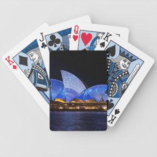 Cartas De Baralhos Teatro da ópera Sydney Austrália