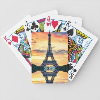 Cartas De Baralhos Torre Eiffel Paris que nivela o viagem europeu