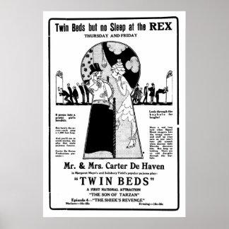 Cartaz cinematográfico 1921 silencioso do vintage posters