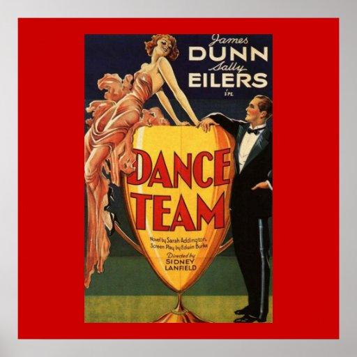 Cartaz cinematográfico 1932 do vintage da equipe d posteres