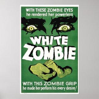 Cartaz cinematográfico branco do zombi poster