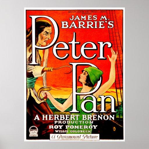 Cartaz cinematográfico de Peter Pan do vintage Posters