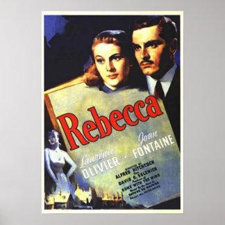 Cartaz cinematográfico de Rebecca Poster