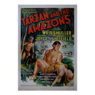 Cartaz cinematográfico de Tarzan do vintage Pôster
